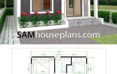 2 Bedroom House Designs Pictures Lovely House Plans 6x7m With 2 Bedrooms Full Plans