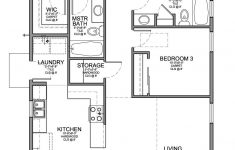3 Bedroom Home Plans New Floor Plan For A Small House 1 150 Sf With 3 Bedrooms And 2