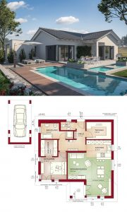 "Architectural Design House Plans Unique Bungalow Modern Architecture Design House Plan ""ambience 77"