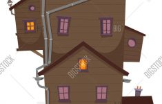 House With Lots Of Windows Luxury High Wood House Vector & Free Trial