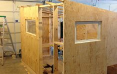 Ice Fishing House Plans Elegant Ice Shanty Project 2014 Almost Done Sheeting