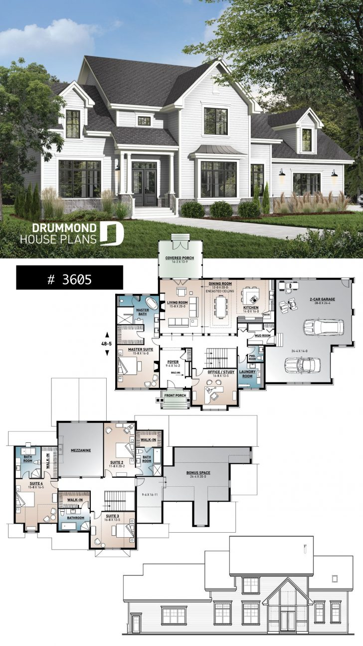 Modern Farmhouse Floor Plans 2020