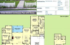 Modern Farmhouse House Plans Fresh Plan Hz Modern Farmhouse Plan With Bonus Room