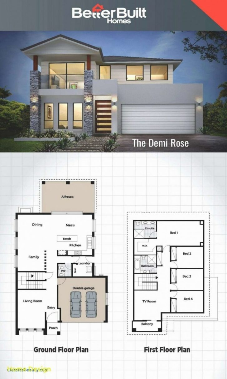 Modern House Designs and Floor Plans 2020