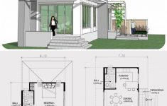 Modern Two Story House Plans Awesome Small Two Story House Plan 7x14m