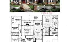 One Story House Plans With Porch New Bungalow Floor Plans