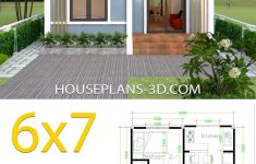 Simple Small House Design Lovely Simple House Plans 6x7 With 2 Bedrooms Shed Roof In 2020