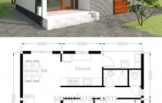 Simple Small House Plans Inspirational House Plans 9x7m With 2 Bedrooms In 2020