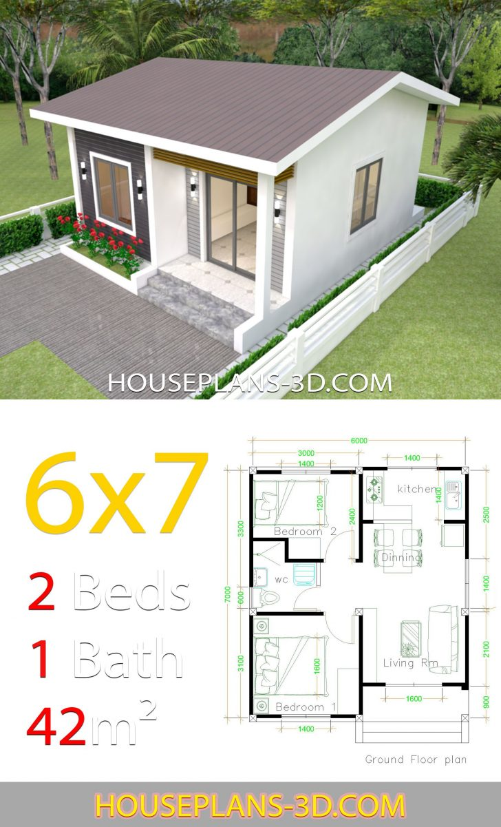 Small 2 Bedroom House Plans 2021