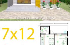 Small 2 Bedroom House Plans Unique Small House Design Plans 7x12 With 2 Bedrooms Full Plans Di