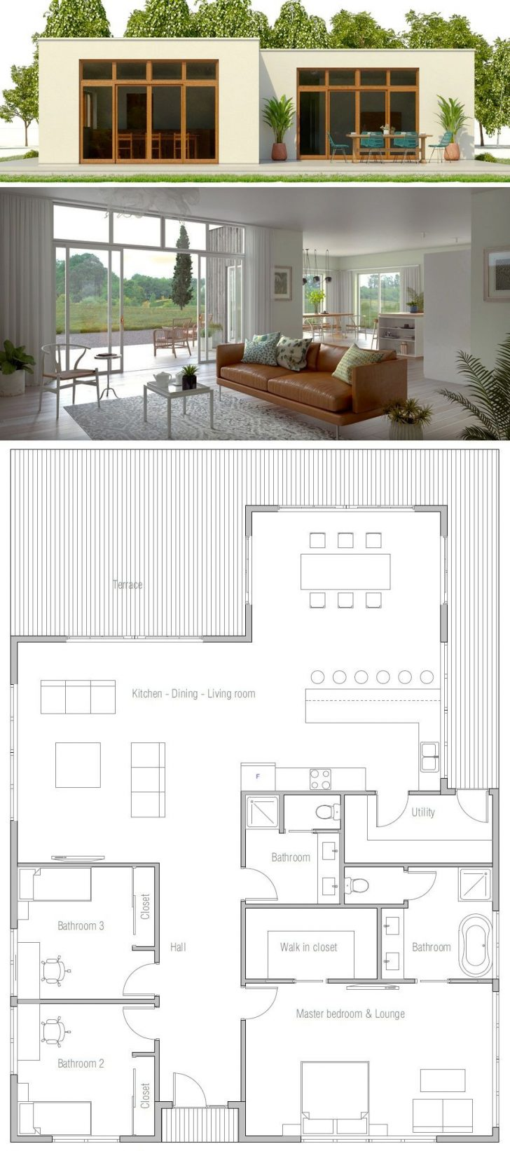 Small Contemporary House Plans 2021
