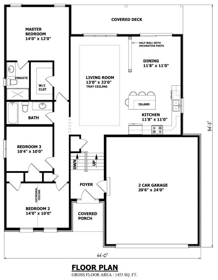 Small House Plans with Garage 2020