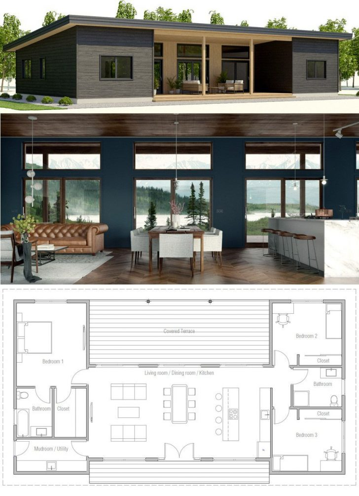 Small Modern House Designs and Floor Plans 2020