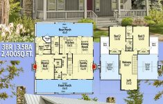 Small Rustic House Plans Luxury Plan Sv Big Rear And Front Porches