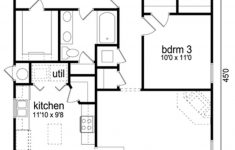 Three Bedroom House Plan New Traditional Style House Plan 3 Beds 2 Baths 1289 Sq Ft