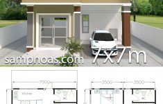 3 Bedroom Duplex House Plans New Home Design Plan 7x7m With 3 Bedrooms