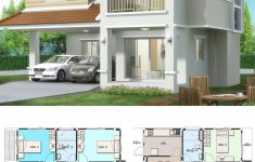 3 Bedroom Duplex House Plans New House Design Plan 10x10 5m With 5 Bedrooms