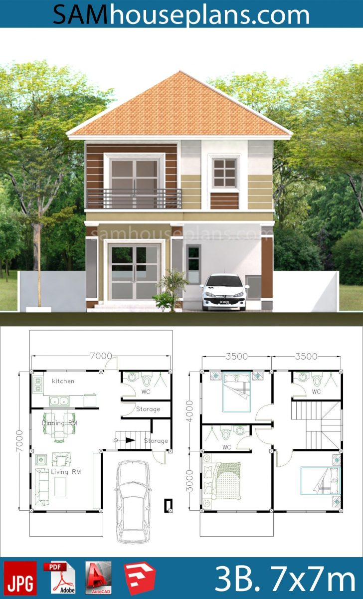3 Bedroom Duplex House Plans 2021