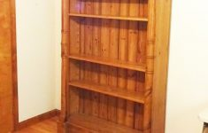 "Antique English Pine Furniture Lovely C1860 Antique English Pine 83"" Tall Bookcase Cabinet W 4 Shelves Crown Molding Shipping Is Not Included Ask Us For A Quote"