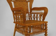 Antique Wicker Furniture Styles Lovely American Victorian Pre 1897 Ornate Natural Wicker Arm Chair