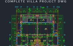 Autocad House Drawings Samples Dwg Awesome Plete Villa Project Dwg Free With Images
