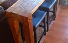 Bar Behind Couch Fresh Diy Sofa Table Made From Pallet Wood Pallet Sofatable