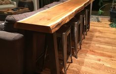Bar Behind Couch Lovely Cedar Heartwood Slab 3 Day Project From Timber To Bar Table
