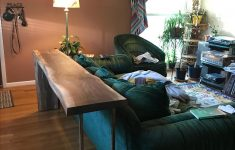 Bar Behind Couch Lovely Custom Made Live Edge Bar Console Table By The Fattimagic