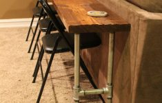 Behind Sofa Bar Table Awesome Sofa Table Bar Table Made From 2x8x12 Board And Conduit