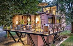Build A Home For 100k Awesome Beautiful Shipping Container House Raised Among The Tree
