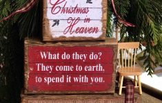 Christmas In Heaven Blocks With Chair Awesome New Handmade Christmas In Heaven Stacking Block Sign