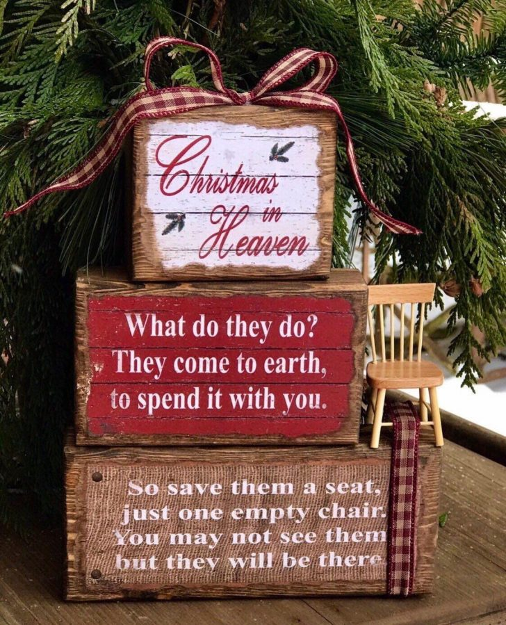 Christmas In Heaven Blocks with Chair 2021