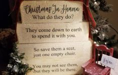 Christmas In Heaven Chair New Christmas In Heaven What Do They Do Poem Memorial Table Top Block Set Wood Sign