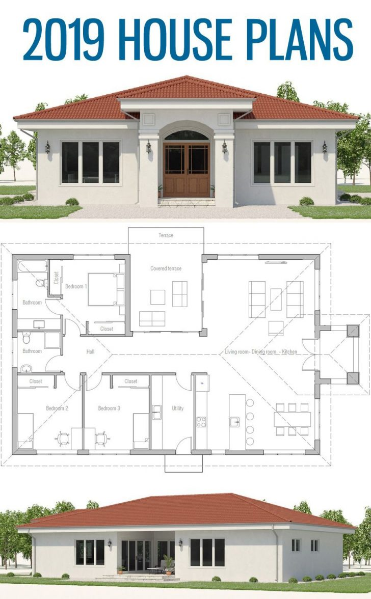 Contemporary House Plans Single Story 2020