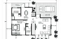 Cost To Build A 800 Square Foot House Unique 1 Bhk Floor Plan For 20 X 40 Feet Plot 800 Square Feet