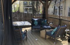 Costco Metal Gazebo Awesome Costco Yardistry Gazebo On Our Deck With Mosquito Curtains