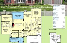 Craftsman Style House Plans One Story Best Of Plan Hz 4 Bed Craftsman With Open Concept Living Space