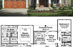 Craftsman Style House Plans One Story Best Of Small Bungalow House Plan With Huge Master Suite 1500sft