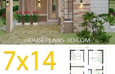 E House Plans Designs Elegant House Design 7x14 With 3 Bedrooms Terrace Roof