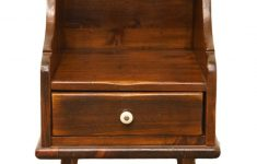 "Ethan Allen Antique Furniture Luxury Ethan Allen Antiqued Pine Old Tavern 14"" Chairside Chest Nightstand 12 8005"