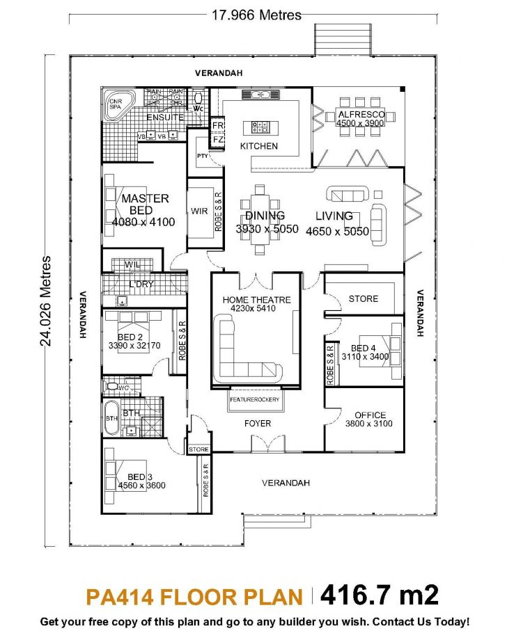 Floor Plan for One Story House 2020