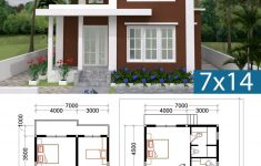 Free Home Design Plans Lovely 3 Bedrooms Home Plan 7x14m