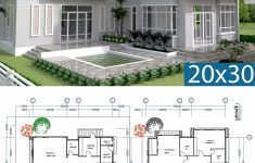 Free Home Design Plans Luxury 3 Bedrooms Modern Home Plan 14x13 5m