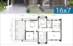 Free House Plans With Photos Beautiful 3 Bedrooms Modern Home Plan 7x16m