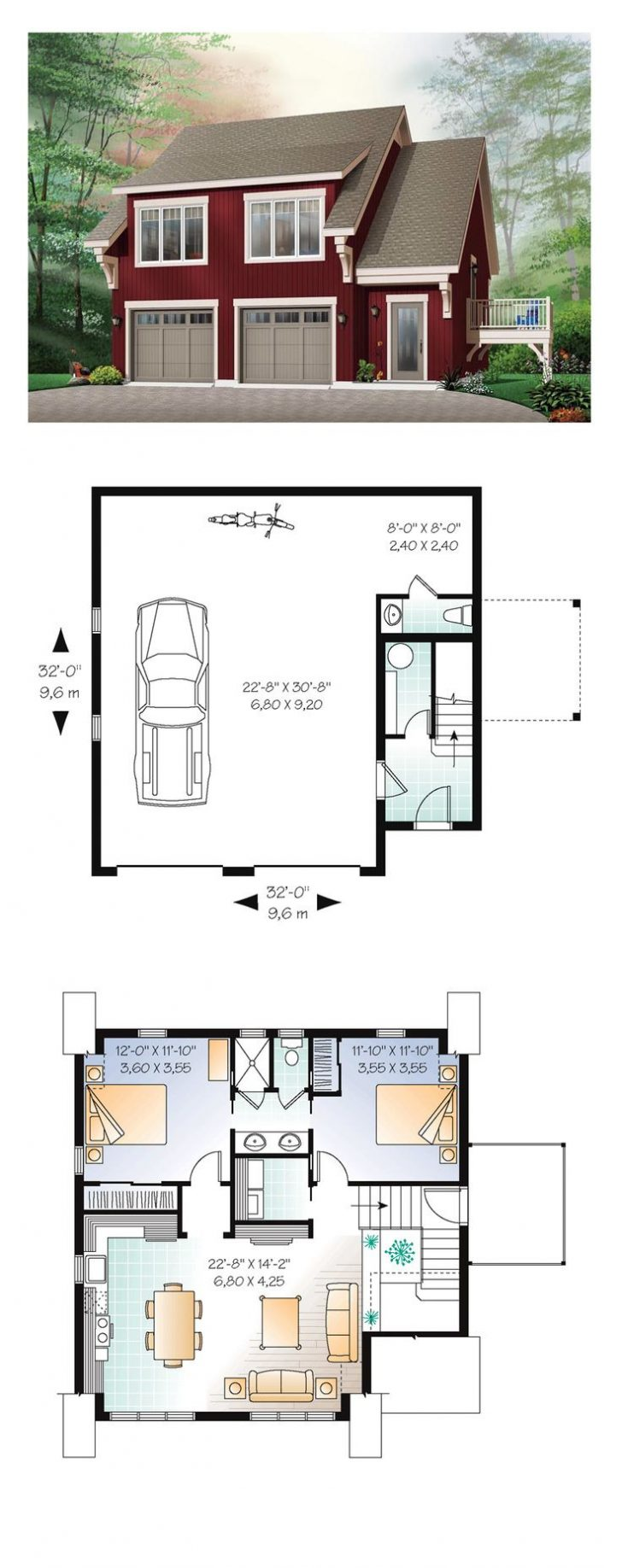 Garage with Guest House Plans 2020