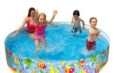 Hard Plastic Swimming Pool With Slide Lovely 1pc Family Children Insulation Colored Circular Hard Plastic Swimming Pool