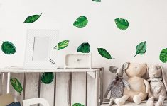 Hawaiian Wall Decals Beautiful Stickerbrand Set Of 48 Tropical Plant Leaves Wall Decal Hawaiian Party Beach Theme Decor Great For Birthdays Prom Wedding Events 6094m