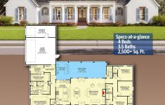 House Plans 2500 Sq Ft One Story Luxury Plan Sm Classic Southern House Plan With Balance And