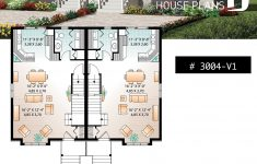 House Plans For Duplexes With Garage Beautiful 91 Best Delightful Duplex Images In 2020