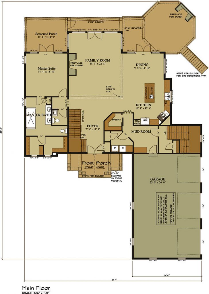 House Plans with Fireplace 2021